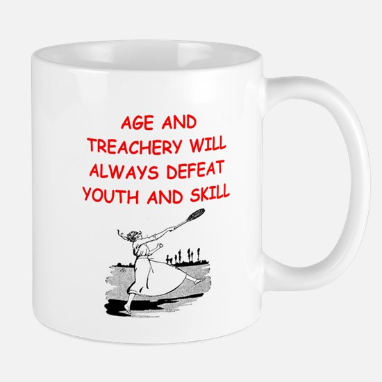 i love badminton Mugs