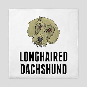 Longhaired Dachshund Queen Duvet