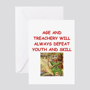 i love archery Greeting Cards