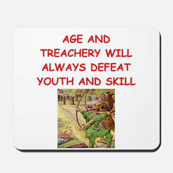 i love archery Mousepad