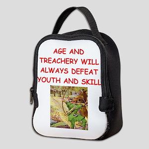 i love archery Neoprene Lunch Bag