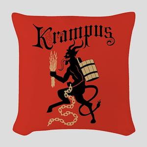 Krampus Woven Throw Pillow