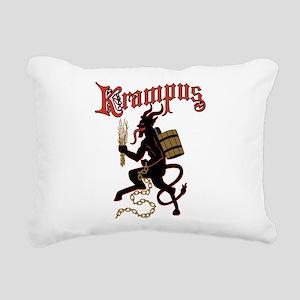 Krampus Rectangular Canvas Pillow