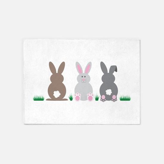 Easter Bunnies 5'x7'Area Rug