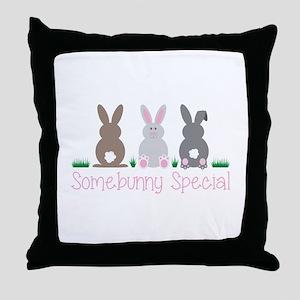 Somebunny Special Throw Pillow