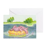 Summertime Dragon Cards (Pack of 6, horizontal)