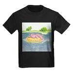 Summertime Dragon Kids Dark T-Shirt