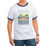 Summertime Dragon Ringer T-shirt