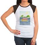 Summertime Dragon Women's Cap Sleeve T-shirt
