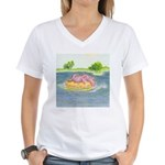 Summertime, and the Livin' is Women's V-Neck T-Shi