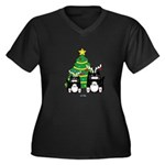 2 Cats W/ Antlers Christmas Plus Size T-Shirt