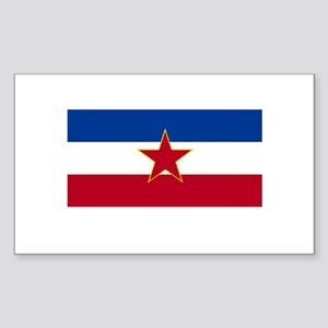 Yugoslavian Flag Rectangle Sticker