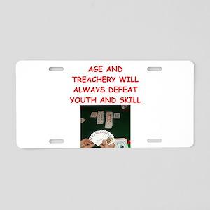 i love bridge Aluminum License Plate