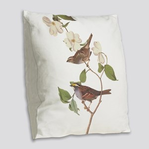 Audubon White Throated Sparrow Original Burlap Thr