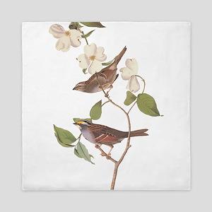 Audubon White Throated Sparrow Original Queen Duve