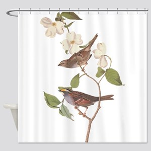 Audubon White Throated Sparrow Original Shower Cur