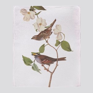Audubon White Throated Sparrow Throw Blanket