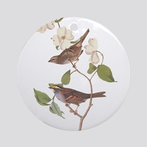 Audubon White Throated Sparrow Original Ornament (