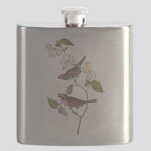 Audubon White Throated Sparrow Original Flask
