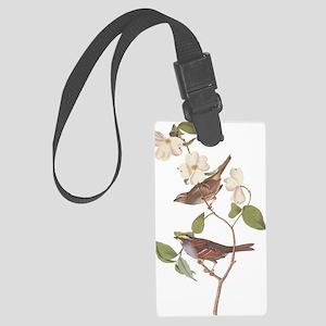 Audubon White Throated Sparrow Large Luggage Tag