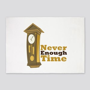 Grandfather_Clock_Never_Enough_Time 5'x7'Area Rug