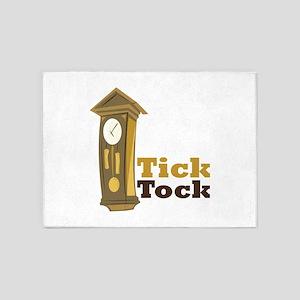 Grandfather_Clock_Tick_Tock 5'x7'Area Rug