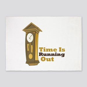 Grandfather_Clock_Time_Is_Running_Out 5'x7'Area Ru
