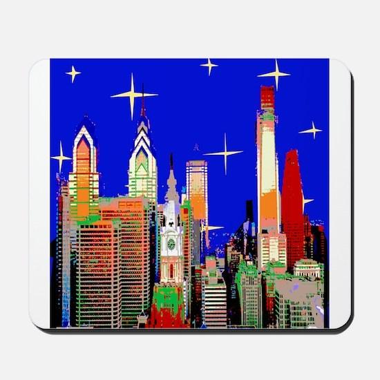 Philadelphia Starry Night Mousepad