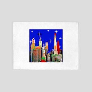 Philadelphia Starry Night 5'x7'Area Rug