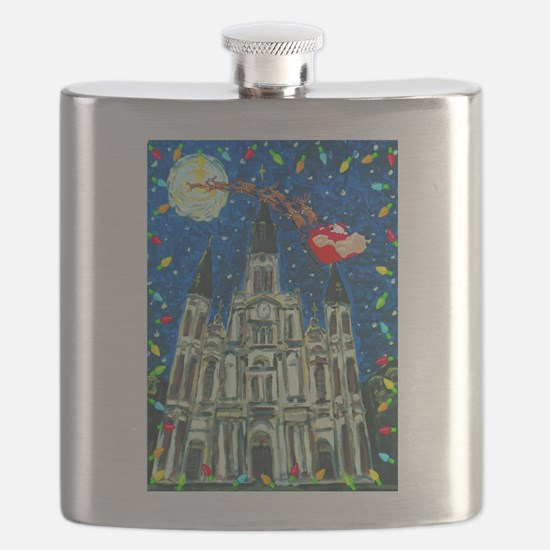 New Orleans Cheristmas Flask