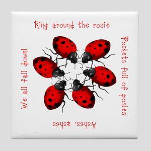 Ladybugs Playing Tile Coaster