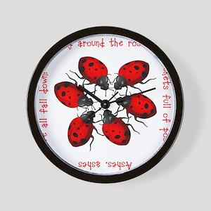 Ladybugs Playing Wall Clock