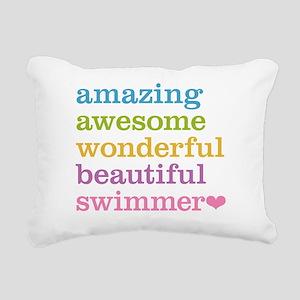 Swimmer Rectangular Canvas Pillow