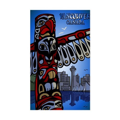Vancouver Canada Souvenir Sticker (Rectangle)