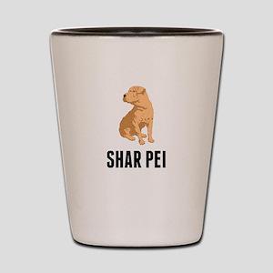 Shar Pei Shot Glass