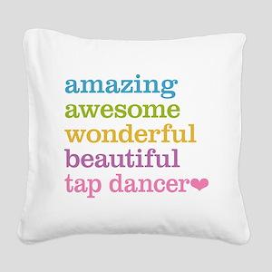Tap Dancer Square Canvas Pillow