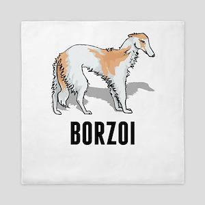 Borzoi Queen Duvet