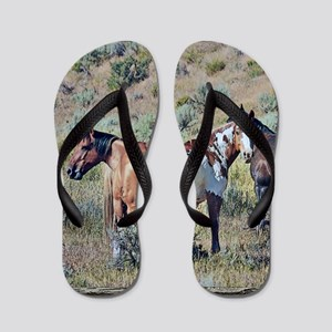 Old window horses 3 Flip Flops