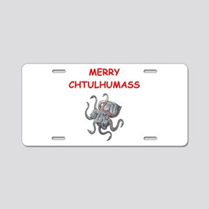 a chtulhu christmas Aluminum License Plate