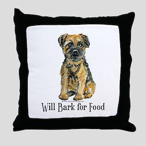 Border Terrier Bark Throw Pillow