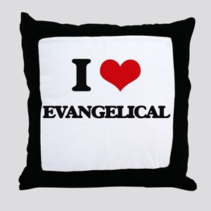 I love Evangelical Throw Pillow
