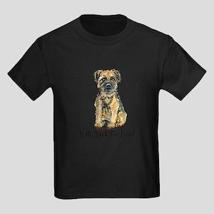Border Terrier Bark Kids Dark T-Shirt