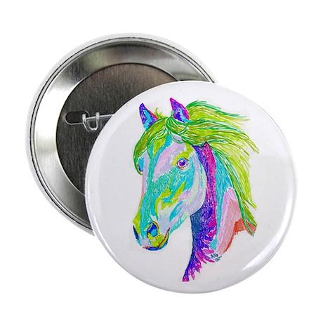 Rainbow Pony Button