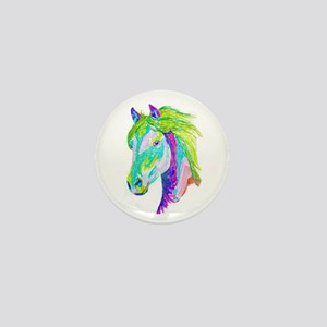 Rainbow Pony Mini Button