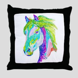 Rainbow Pony Throw Pillow