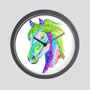 Rainbow Pony Wall Clock