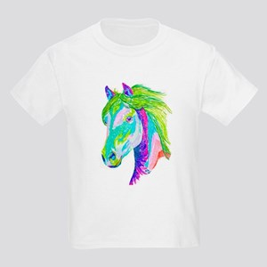 Rainbow Pony Kids Light T-Shirt