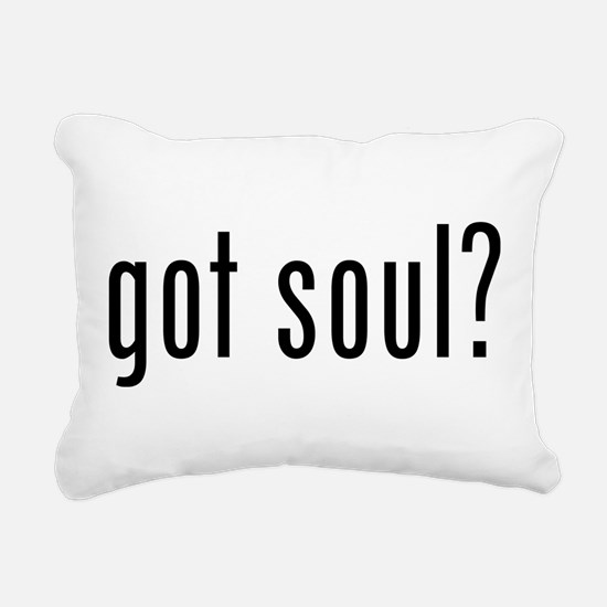 got soul? Rectangular Canvas Pillow