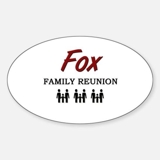 Fox Family Reunion Oval Decal
