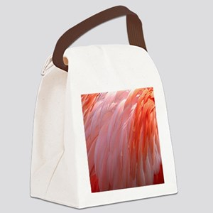 flamingo feathers Canvas Lunch Bag